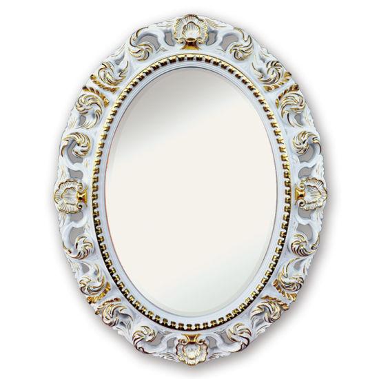 Banruo Customized Ornate PU Oval Mirror Frame for Bathroom Decor