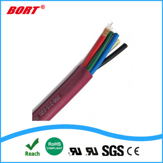 22AWG Copper Cores Wire Braid Shield Control Electrical Cable