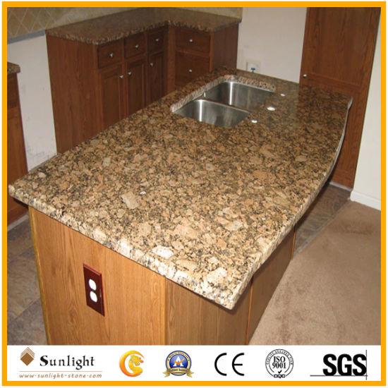Natural Polished Giallo Fiorito Granite Countertops & Vanity Tops for Kitchen