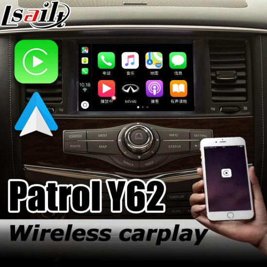 China Wireless Carplay Android Auto Interface Box For Nissan Patrol Y62 Armada Youtube Play China Carplay Nissan Carplay