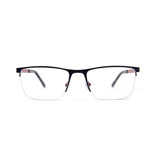 Ce Fashion Metal Temple Half-Rim Stainless Steel Optical Frame Spectacle Frame for Men
