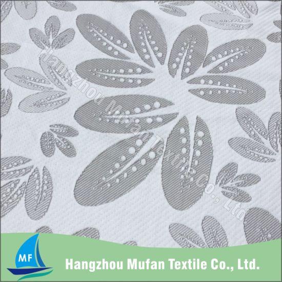 Wholesale Popular Design Spun Polyester Jacquard Knitted Mattress Fabric / Mattress Ticking Fabric