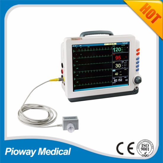 China Portabel ICU Patient Monitor / Vital Signs Monitor (PW-406)