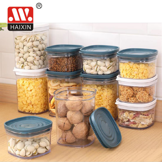 Plastic Kitchen Food Container for Snacks Storage Box