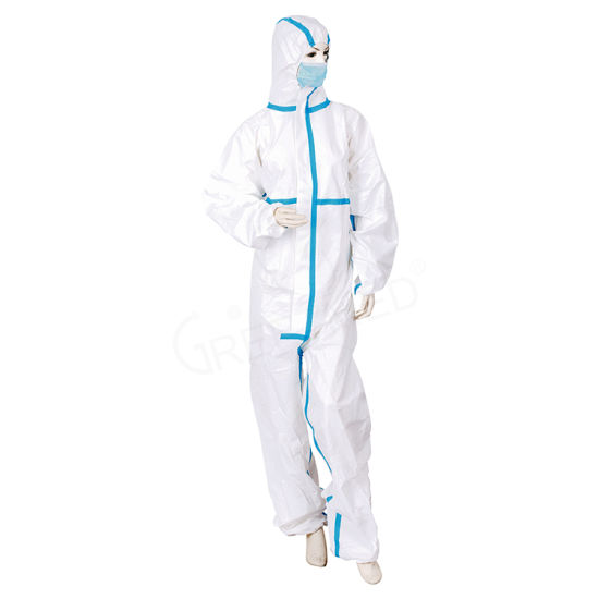 Safety Waterproof Disposable Coverall Protective Clothing