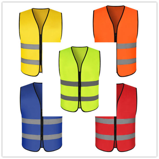 Durable Breathable Polyester Traffic Safety Workwear High Light Reflective Vest