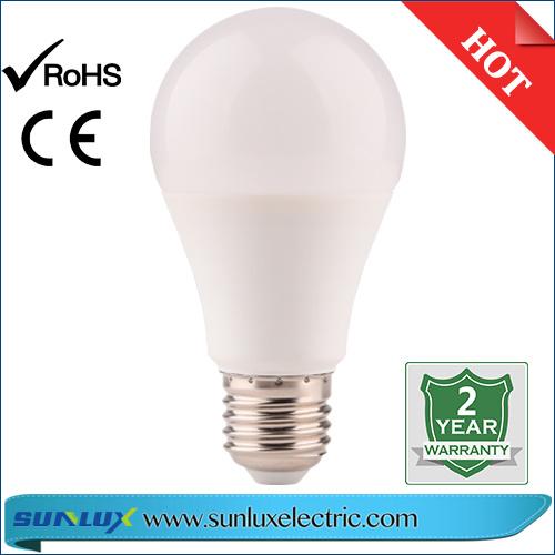 LED Bulb Light E27 6500K A60 A70 5W 7W 9W 15W with Ce Approved IC Driver 2 Years Warranty