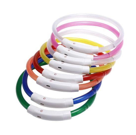 Meeno Waterproof Charging USB Rechargeable LED Flashing Dog Collar/Pet Collar