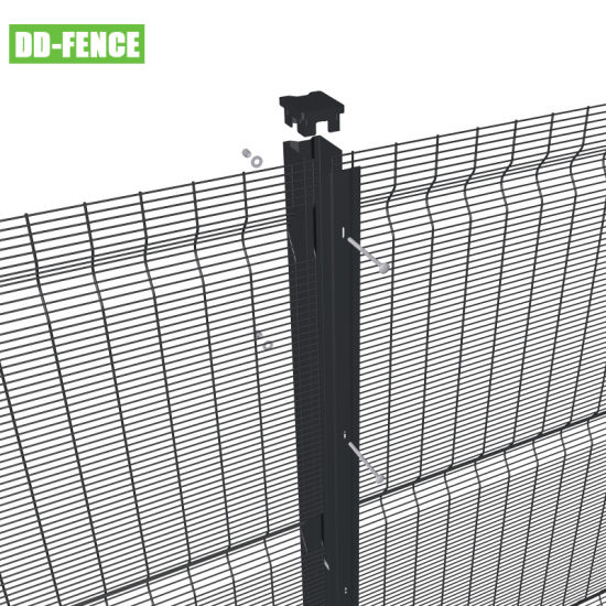 High Security 358 Weld Mesh Anti Climb Perimeter Fence for Boundary Prison Airport Border Factory Railway Power Station