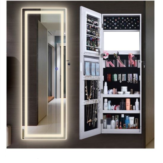 Mirror Storage Jewelry Wall, Wall Hanging Mirror With Storage
