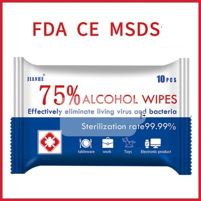 FDA ISO MSDS RoHS SGS Ce Protection Sanitizer Wet Wipes