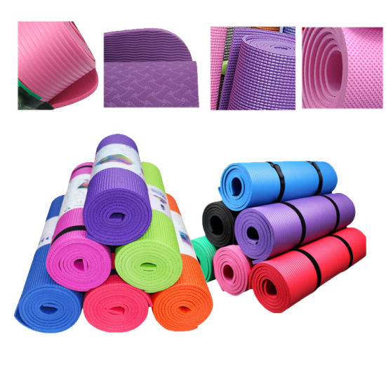 Large Inventory Clearance TPE/PVC/EVA/NBR Natural Rubber Yoga Mat Low Price