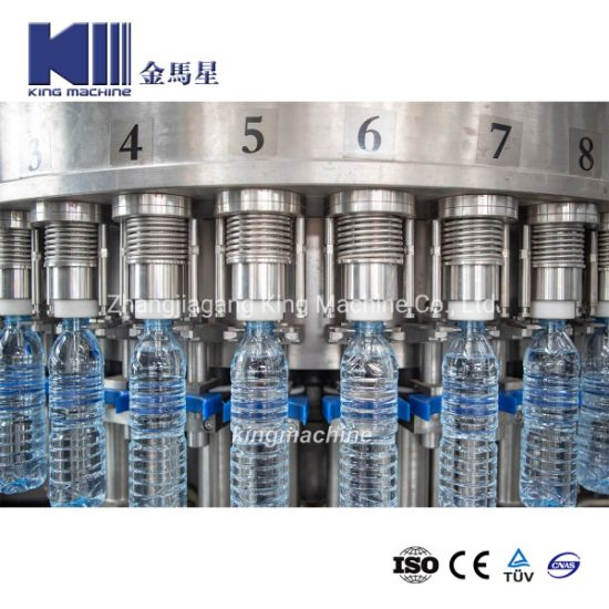 Automatic Pet Bottle Aqua Natural Drink Water Bottling Line Mineral Pure Complete Plant Soft Drinks Water 3 in 1 Filling Monoblock Bottling Packing Machine