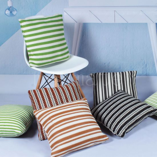 Home Textile Pu Woven Striped Square, Home Goods Chair Pillows
