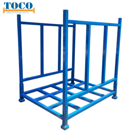 China Producer Light Duty Textile Roll Foldable Stackable Racking with Mesh Wall