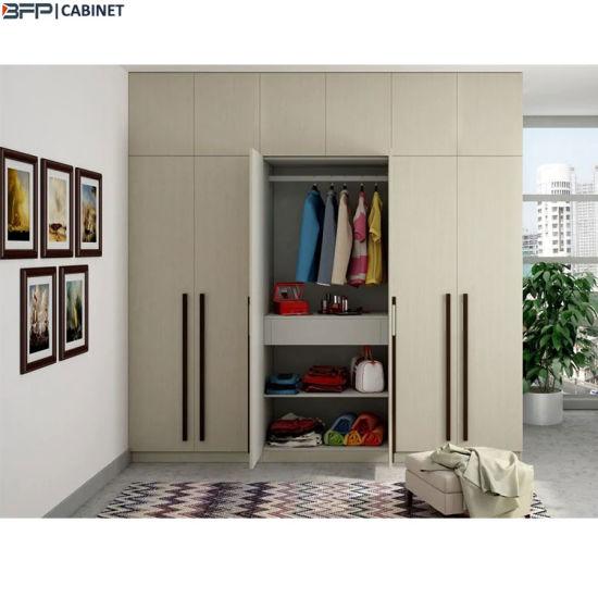 Light Wood 6 Doors Bedroom Wardrobe