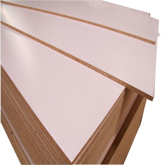 Wood Grain Color Melamine Laminated Particle Board For Furniture