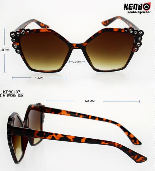 cf3befb55ae9 Fashion Polygonal Plastic Sunglasses with Rhinestone on Frame Kp80197  pictures   photos