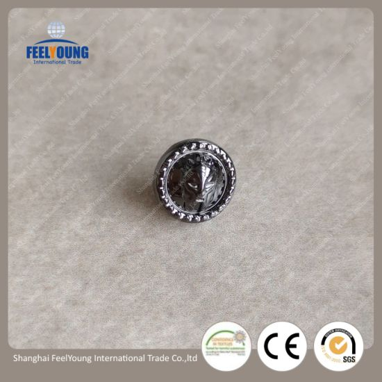 China Supplier Fashionble Custom Jean Jacket Metal Buttons