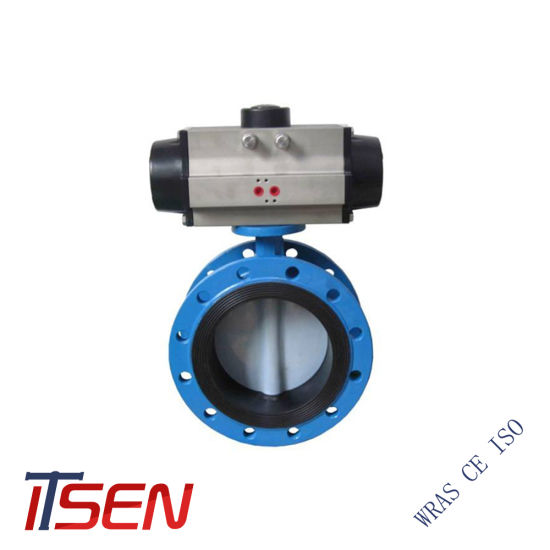 High Performance Mechanical Electric Actuator Control Double Flange Butterfly Valve pictures & photos