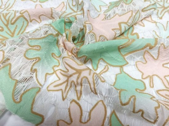 Wholesale Position Printed Embroidery Lace Fabric for Tablecloths Home Textile