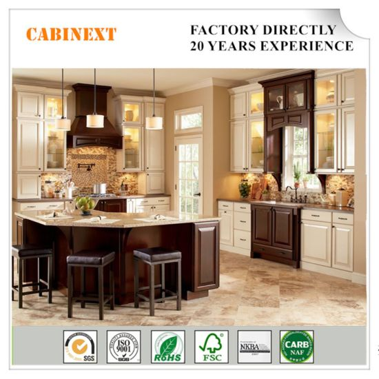 China Classical Elegant Wooden Lacquer Modular Kitchen Cabinet Rta