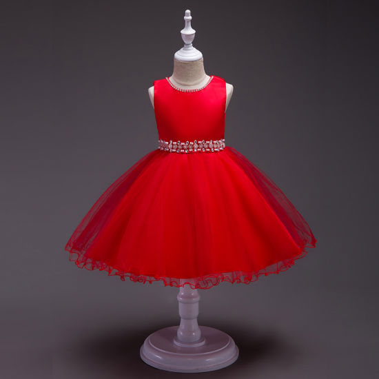 Girls' Wedding Dresses, Skirts, Children's Party Lace Evening Gown
