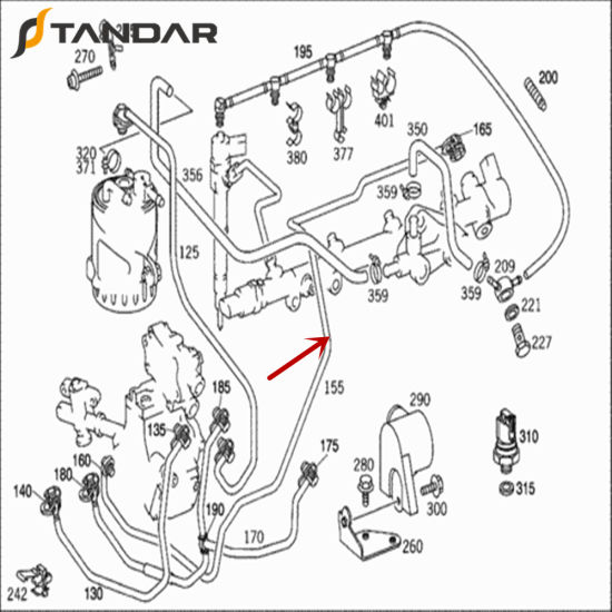 China 6110702932 High Pressure Fuel Pump Pipe Line for Mercedes Benz  Sprinter 2-T - China 6110702932, Fuel Line A6110702932Shijiazhuang Standards Rubber Products Trading Co., Ltd.
