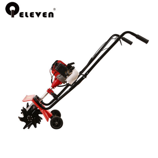 49cc/52cc 1e44f 5 2 Stroke Engine Gas Hand Push Garden Mini Tiller With  300mm/400mm Width