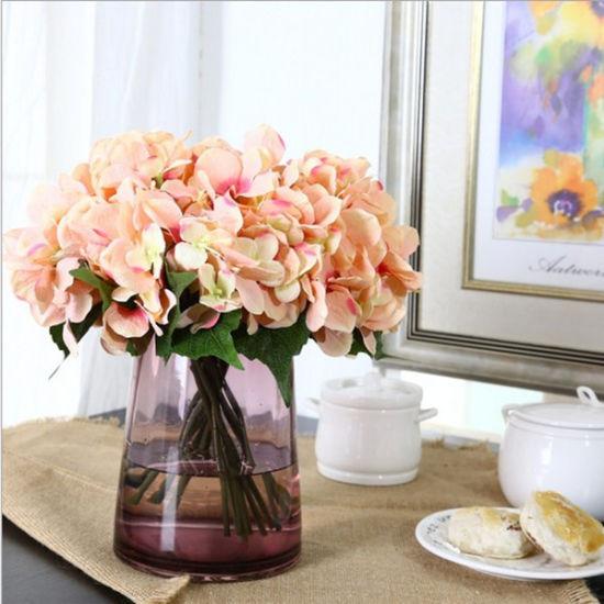 Wholesales Artificial Hydrangea Bouquet Flowers for Home Decoration