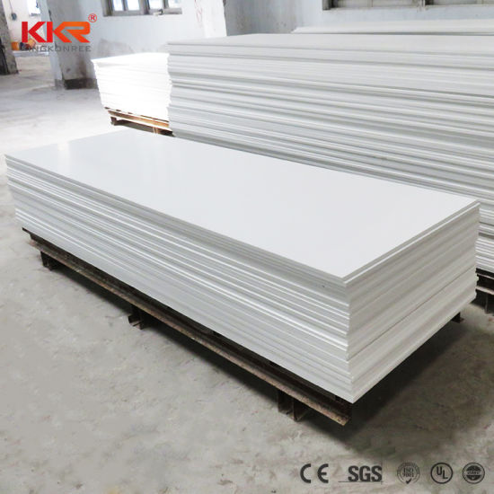White Corian 12mm Table Top And Countertop Material Acrylic Solid Surface  Sheets