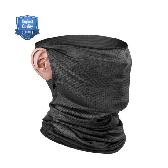 Hot Selling Outdoor Bike Anti-UV Fashion Comfortable Tube Face Mouth Neck Head Magic Bandanas with Earloop