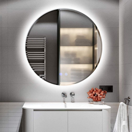 LED Lighted Bathroom Round Mirror Easy Installation Anti-Fog Wall Mounted Makeup Mirror with Lights China Supplier