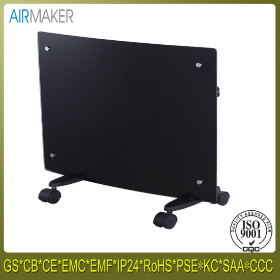 High Cost Performance Electrical Curved Portable Gl Panel Bathroom Heater With Ce Cb Gs Roved