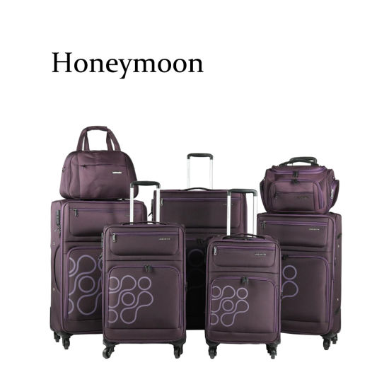 7PC Set Nylon Material Luggages with Beauty Case (JB1009) pictures & photos