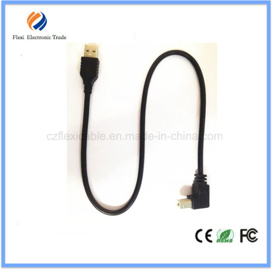 USB 2.0 B Type Male 90 Degree USB Printer Cable