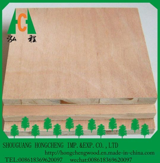 Hot Sell 18mm Okoume / Bintangor Faced /Wooden Veneer Blockboard with Pine Core pictures & photos