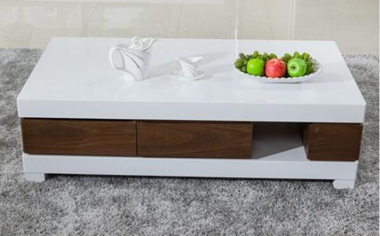 Latest Design Wooden Marble Coffee Table 1229