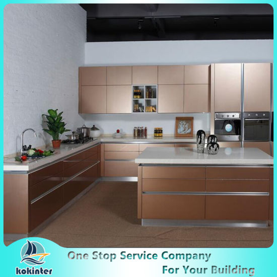 design of modular kitchen cabinets china classic styles pvc laquer melamine uv modular 8646
