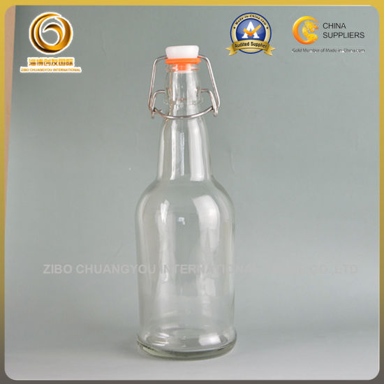 China Popular Swing Top Glass 16oz Clear Beer Bottles 074 China