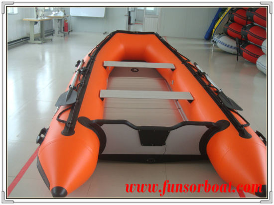PVC or Hypalon Fishing Boat with Al Floor (FWS-D430) pictures & photos