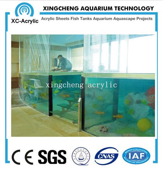 Customized Transparent UV Acrylic Material Aquarium Tank