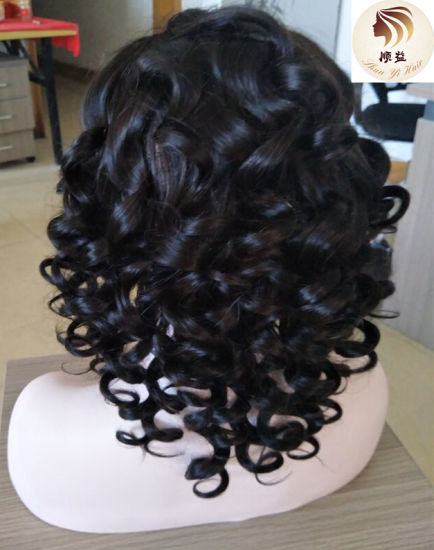 Cheap Pre Plucked Baby Hair Around Loose Wave Virgin Human Lace Frontal Wig