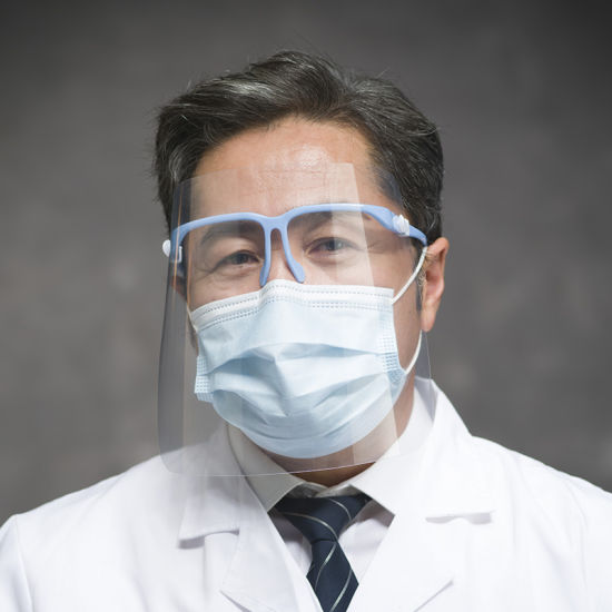 Semi, Safety Replacement Glass for Face Shield with Glasses Frame