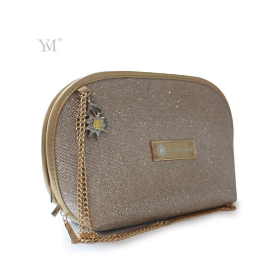 Wholesale Shiny Luxury Cosmetic Bag with Chain pictures & photos