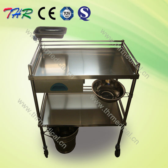 Hospital Stainless Steel Treatment Trolley pictures & photos