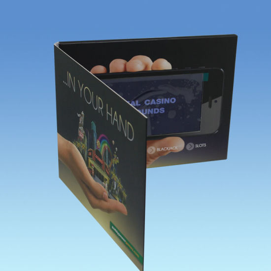 7inch LED Video Greeting Card; Video Brochure for Invitation/Birthday/Wedding/Business pictures & photos
