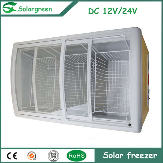 Home Use Defrost/Frost Free Mini Solar Energy Refrigerator Fridge pictures & photos