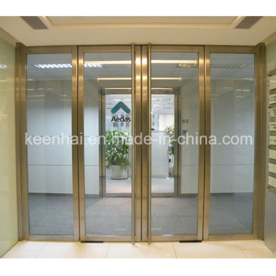 China Customed Size Commercial Stainless Steel Frame Glass Security