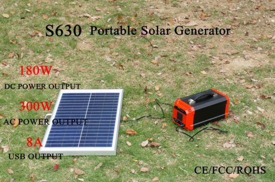 off-Grid Solar Powered Generator with Inverter